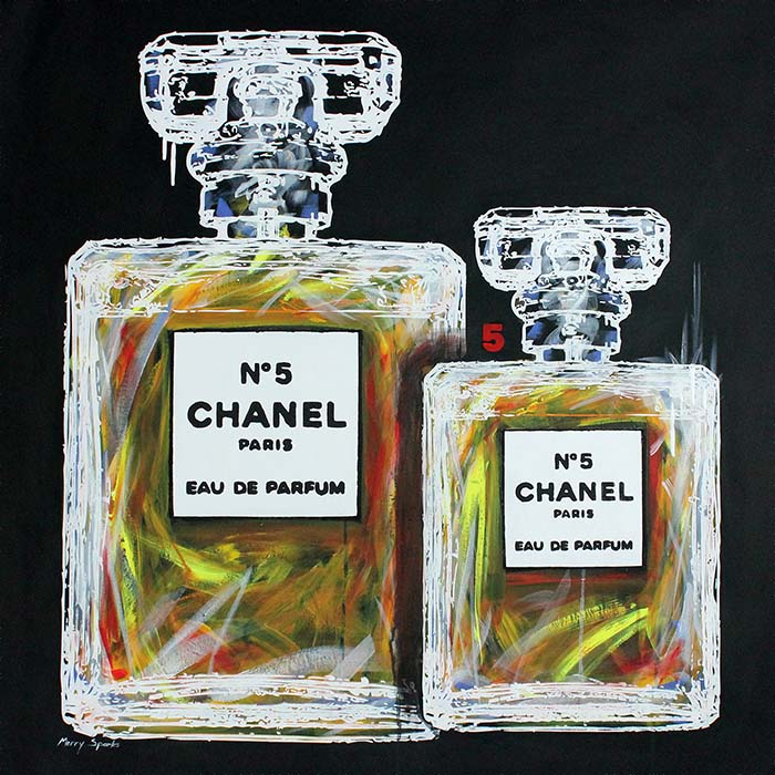 Chanel No 5 18 painting by Merry Sparks