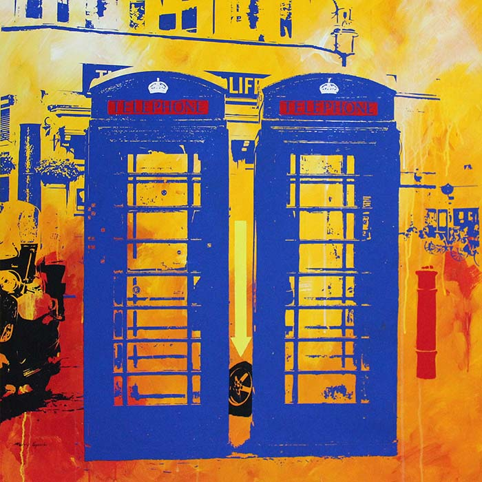 iPhonebox Soho London 7a painting by Merry Sparks