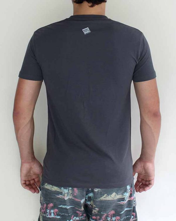 guys charcoal tshirt back by Merry Sparks