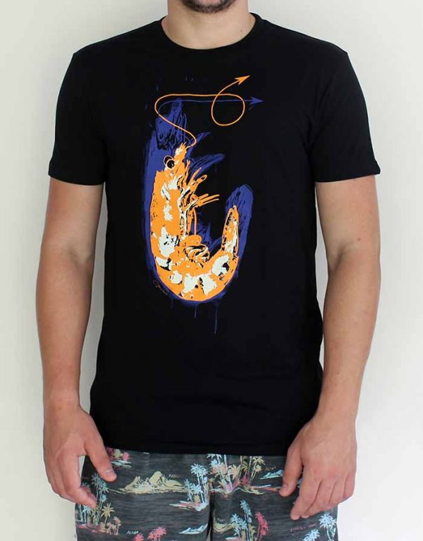 guys prawn tshirt by Merry Sparks