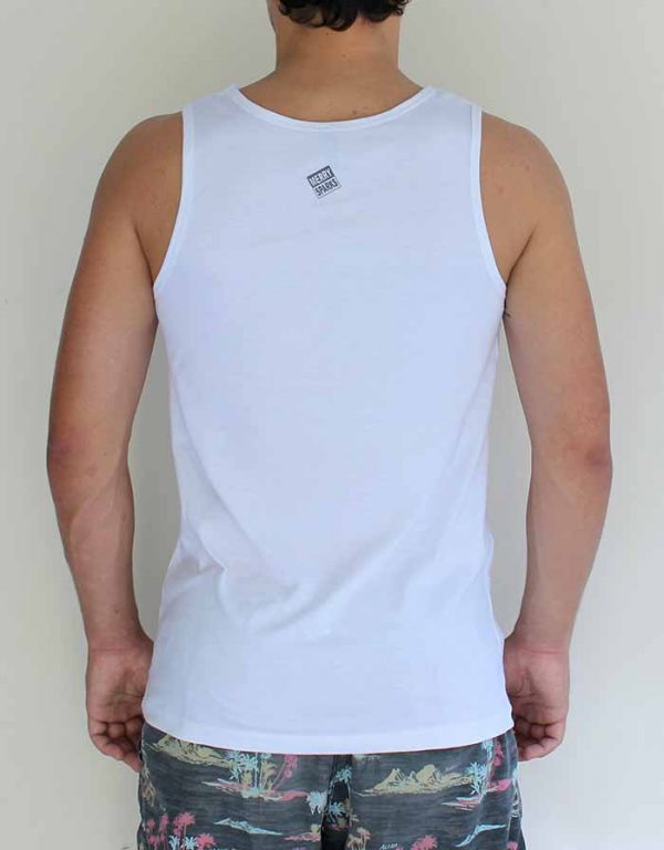 guys white tank back by Merry Sparks
