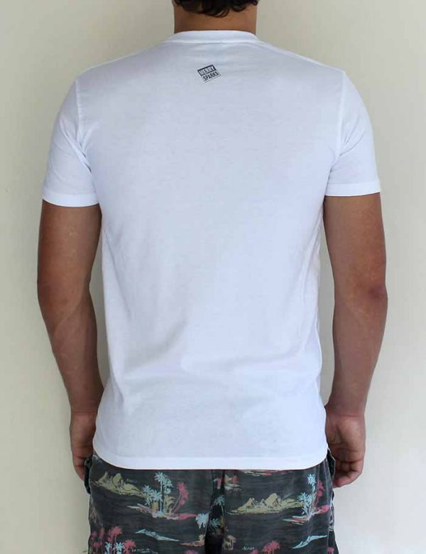 guys white back tshirt by Merry Sparks