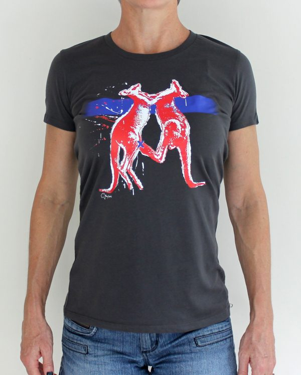 chicks kangaroo t-shirt by Merry Sparks