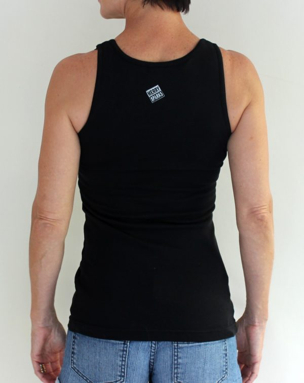 chicks black tank back by Merry Sparks