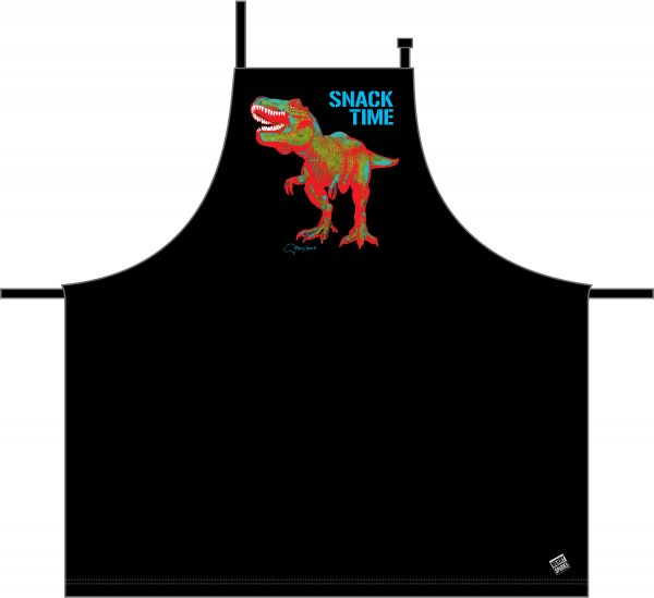 TRex Black Apron by Merry Sparks