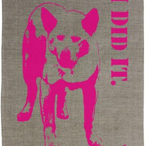THE DINGO DID IT Linen Tea Towel