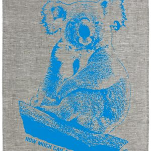 HOW MUCH CAN A KOALA? Linen Tea Towel