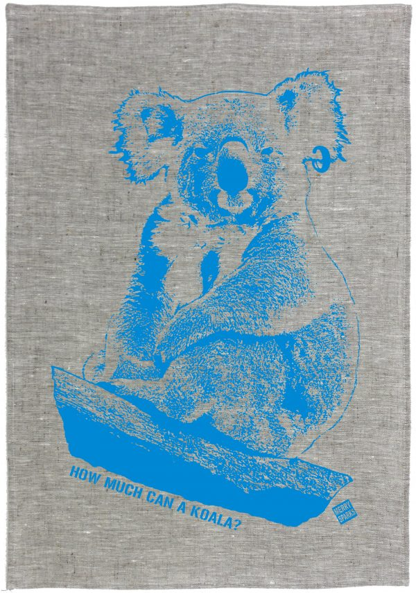 Koala Linen Tea Towel by Merry Sparks