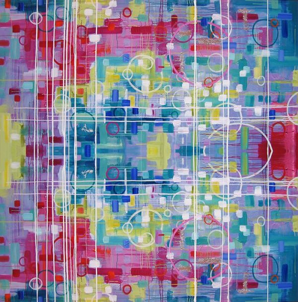 Bearbert abstract painting by Merry Sparks