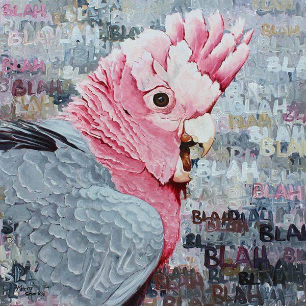 Blah Blah Blah 4 painting by Merry Sparks