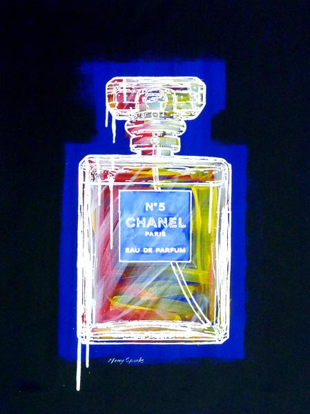 Chanel No 5 13 popart by Merry Sparks