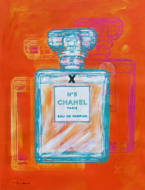 Chanel No 5 16 popart by Merry Sparks