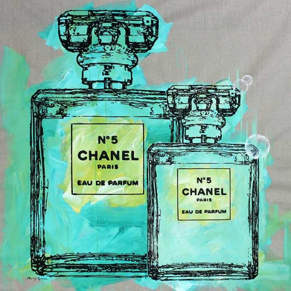 Chanel No 5 17 popart by Merry Sparks