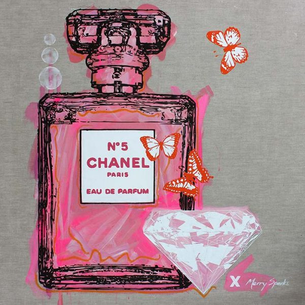 Chanel No 5 19 popart by Merry Sparks