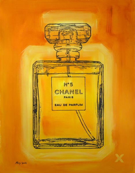 Chanel No 5 5 popart by Merry Sparks
