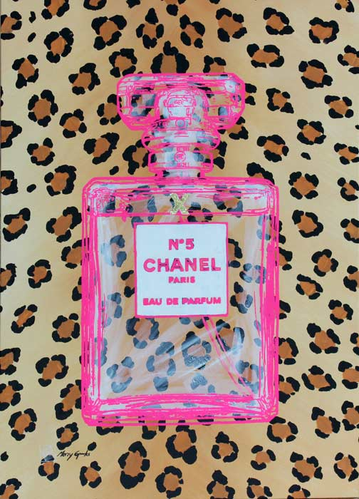 Chanel No 5 6 popart by Merry Sparks