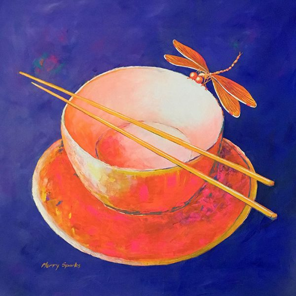 Chinese Bowl still life painting by Merry Sparks
