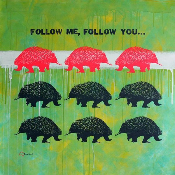 Follow Me, Follow You 3 popart by Merry Sparks