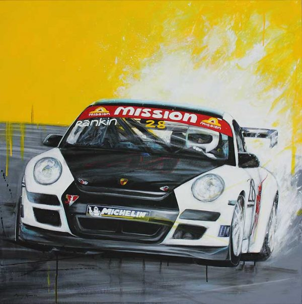 Porsche GT2 Cup Car painting by Merry Sparks