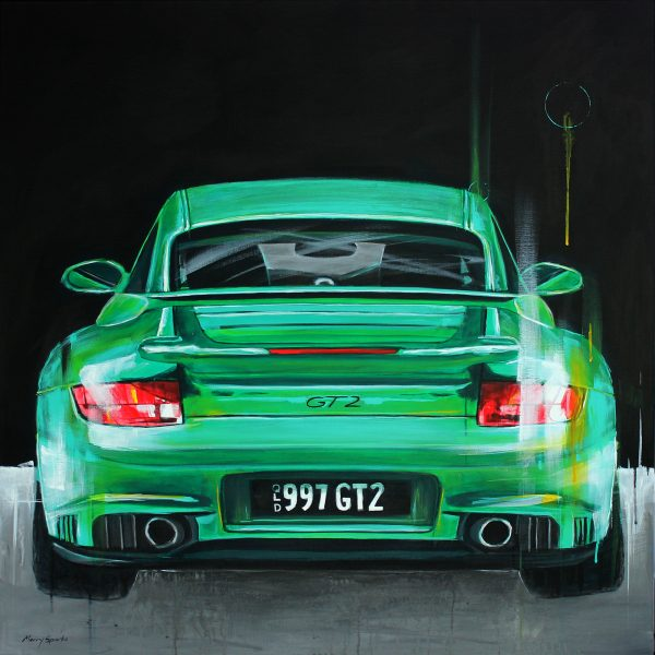 Porsche 997 GT2 painting by Merry Sparks