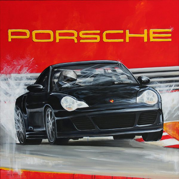 Porsche 996 painting by Merry Sparks