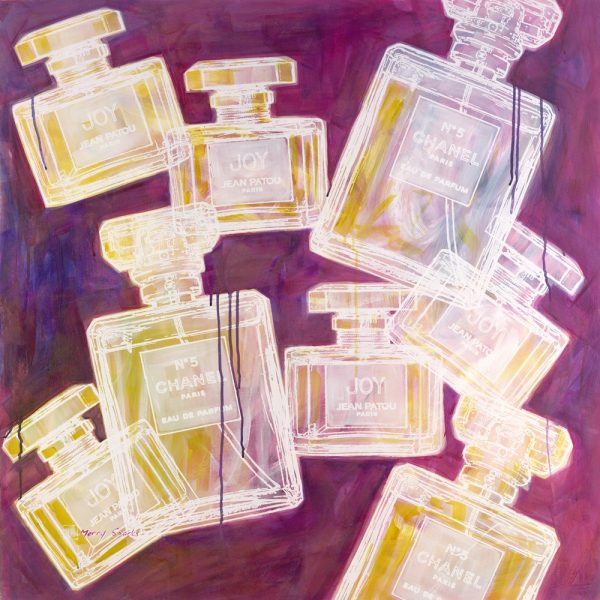Chanel No 5 and Joy 10 popart print by Merry Sparks