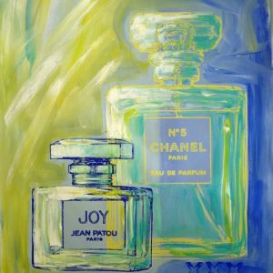 Chanel No 5 and Joy 3 popart by Merry Sparks