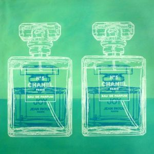 Chanel No 5 and Joy 4 popart by Merry Sparks