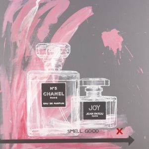 Chanel No 5 and Joy 6 popart by Merry Sparks