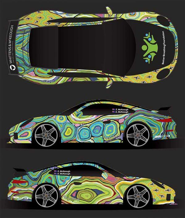 Porsche 991 Turbo Better Breathing Foundation Vinyl Wrap by Merry Sparks