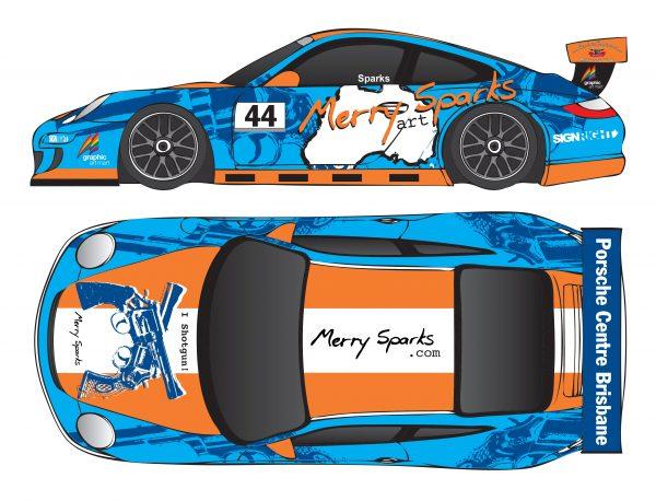 Porsche 997 GT3 Cup Car I Shotgun vinyl wrap by Merry Sparks