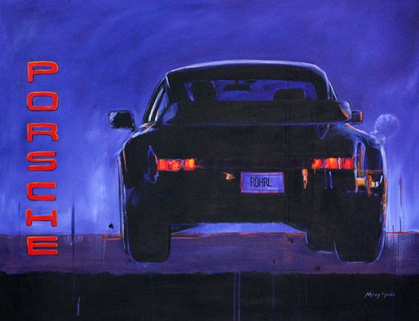 Soiree At Dusk Porsche by Merry Sparks