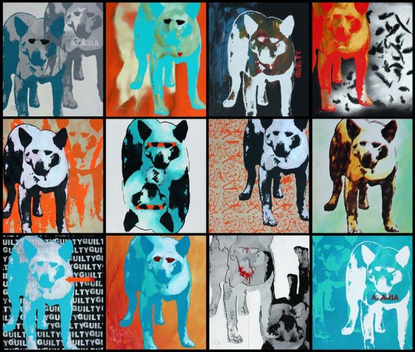 The Dingo Did It Mural popart by Merry Sparks