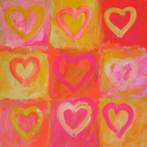 Valentines Day abstract by Merry Sparks