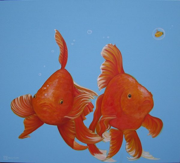 What The goldfish painting by Merry Sparks