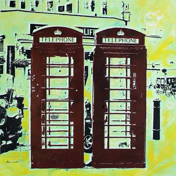 iPhonebox Soho London 9 popart by Merry Sparks