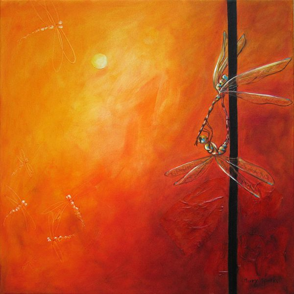 We Meet Again dragonflies by Merry Sparks